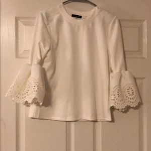 52bcea1d4689d New without tags white shirt with lace detail